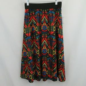 LuLaRoe Lola Chiffon Bright Hearts Skirt
